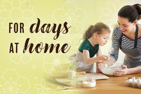 Hope-inspiring activities for days at home